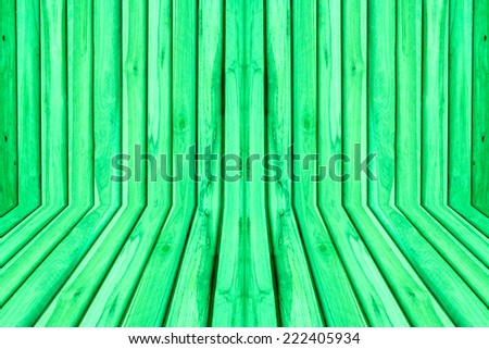 Wood texture green color background