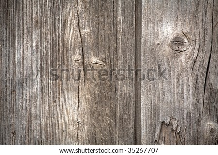 Wood texture of an old house - stock photo