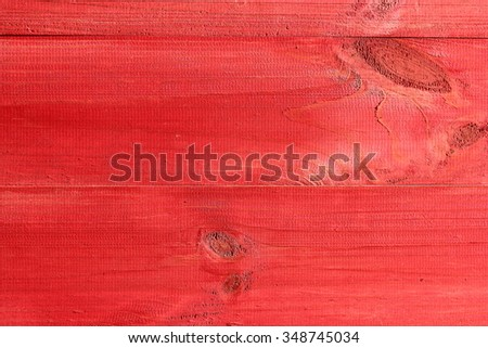 wood texture, painted in red color