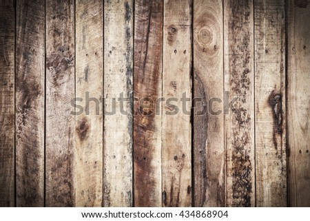 Wood texture pattern and background for interior or exterior design with copy space for text or image.