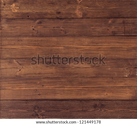 Wood Texture, Wooden Plank Grain Background, Striped Timber Desk Close Up, Old Table or Floor, Brown Boards - stock photo