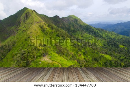 wood textured backgrounds in a room interior on the forest mountain backgrounds - stock photo
