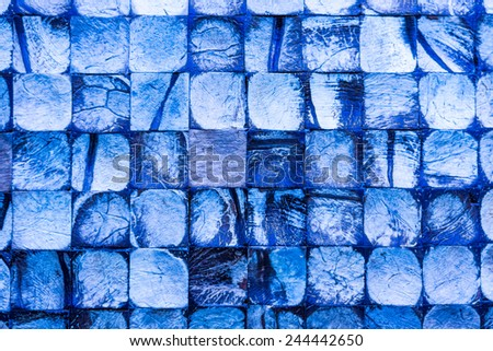 Wood tile. In blue tone
