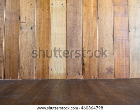 Wood wall and wood floor texture