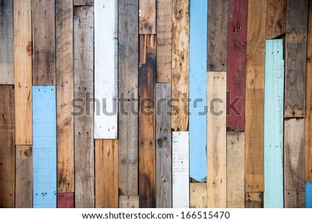wood wall and wood texture - stock photo