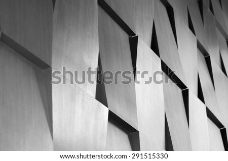 Wood wall geometry decoration background - stock photo