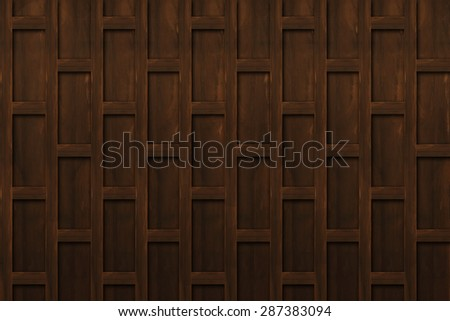 Wood wall texture in Thai traditional house. - stock photo