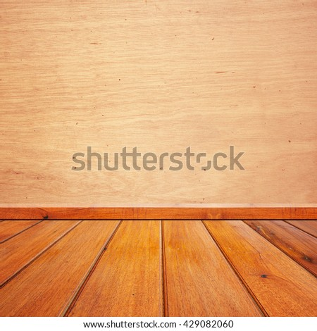 Wood walls and floor for background - stock photo
