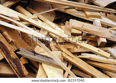 wood waste - stock photo
