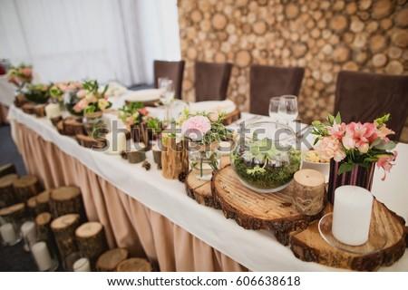 Wedding decor stock images royalty free images vectors wood wedding decor junglespirit Gallery