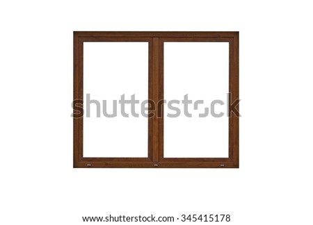 wood window frame isolated on white - Window Frame Picture Frame