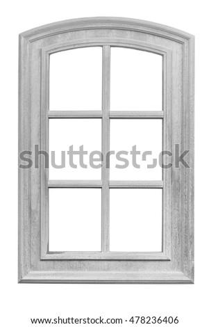 Wood Window Frame Isolated On White Stock Photo (Edit Now) 478236406 ...