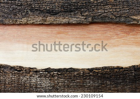 wood with color gradation in an old wooden frame cracked - stock photo
