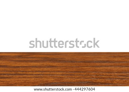 Wood. Wooden table. Old wood table for montage and product presentation. Wood plank isolated on white. 3D illustration - stock photo