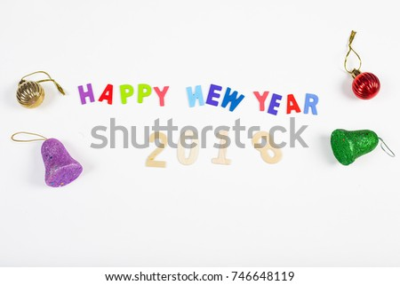 Wood Wording Happy New Year 2018 Stock Photo (Royalty Free ...