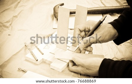 Wood Worker - stock photo