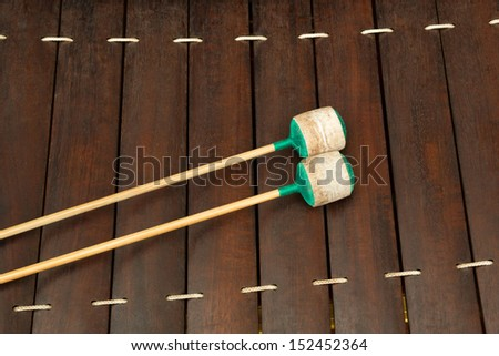 Wood xylophone musical instrument of Thailand. - stock photo