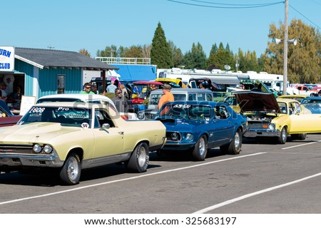 Classic Cars Lined Up Stock Images Royalty Free Images Vectors