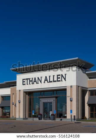 WOODBURY, MN/USA   NOVEMBER 13, 2016: Ethan Allen Store Exterior And