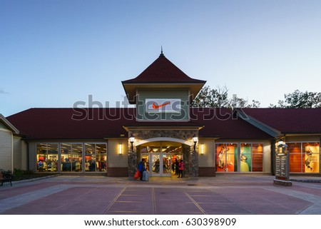 WOODBURY, NEW YORK - OCT 26 : Nike factory outlet store at Woodbury Common  Premium