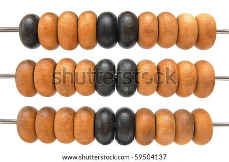 Wooden abacus macro - stock photo
