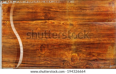 wooden abstract background with light and scratches