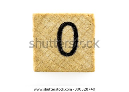Wooden alphabet blocks with letters O (Isolated) - stock photo
