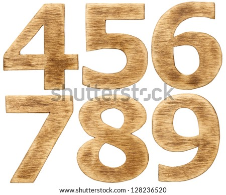 Wooden alphabet numbers.