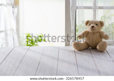 Wooden and doll with morning bright