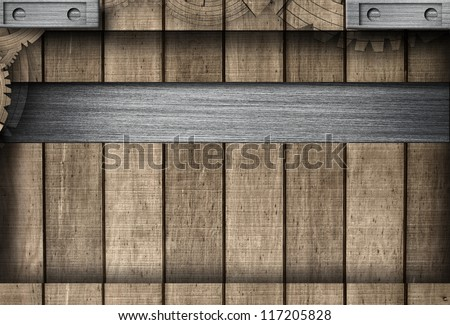 Wooden and Metal Background - stock photo