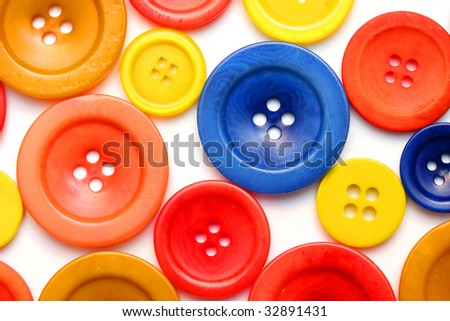 Wooden and polyester buttons