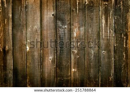 Wooden antique plank background texture orange coloured - stock photo