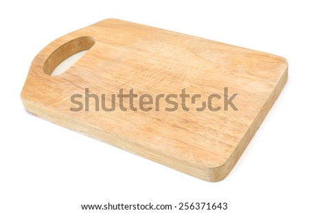 Wooden antiseptic cutting board isolated with clipping path on white background