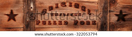 wooden background, american food