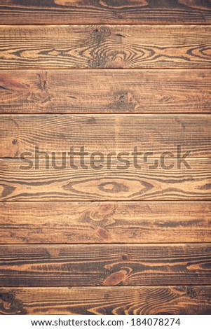 Wooden background. Brown grunge texture of wood board - stock photo