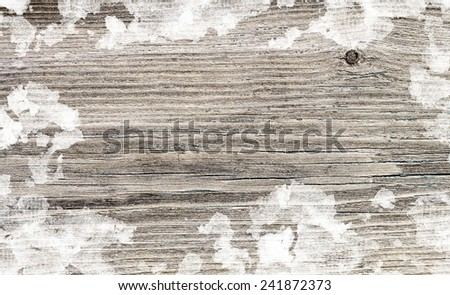 wooden background in snow surface