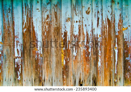 wooden background of wall with rusty nails - stock photo