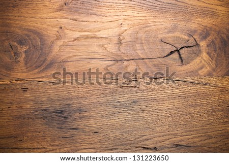 Wooden background. Old Oak Planks - stock photo