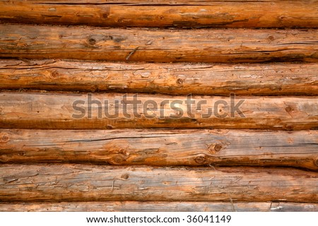 Wooden background - part of log cabin
