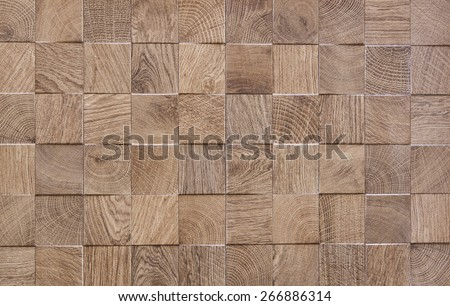 Wooden background with embossed detail Decorated wooden textured background - stock photo