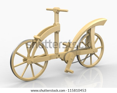 Wooden bicycle Leonardo da Vinci, Codex Atlanticus/0133v