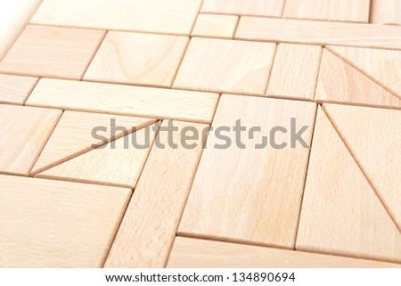 Wooden block background - stock photo