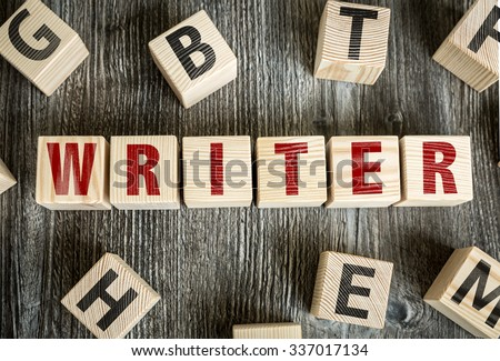 Wooden Blocks with the text: Writer - stock photo