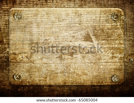 Wooden board - stock photo
