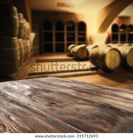 wooden board barrels and interior