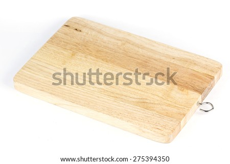 wooden board isolated on the white background