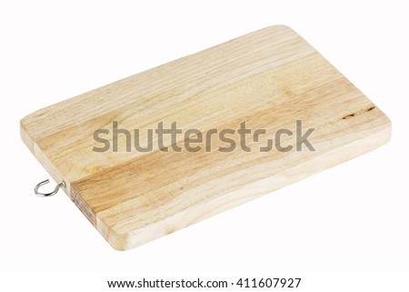 wooden board isolated on the white background with Paths
