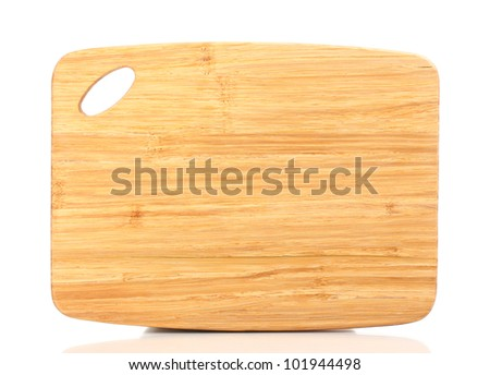 Wooden board isolated on white - stock photo