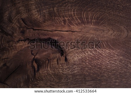 Wooden board texture. Dark wooden tabletop background