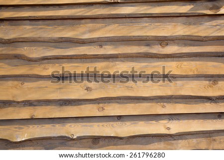 Wooden board with old planks texture in sunset lighting - stock photo